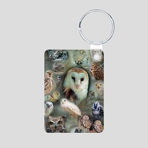 Happy Owls Aluminum Photo Keychain