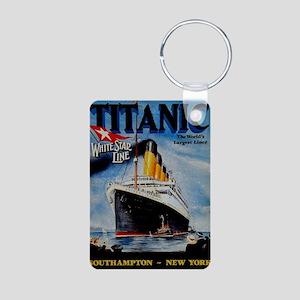 Vintage Titanic Travel Aluminum Photo Keychain