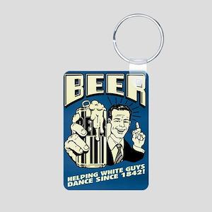 Beer Help White Guys Dance Aluminum Photo Keychain
