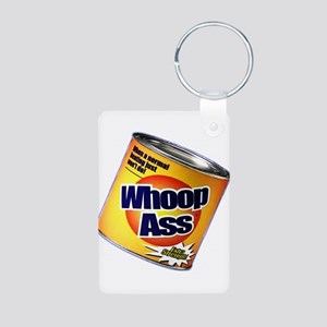 Funny Can Of Whoop Ass Aluminum Photo Keychain