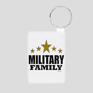 Military Family Aluminum Photo Keychain