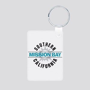 Mission Bay California Aluminum Photo Keychain