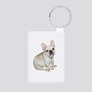 French Bulldog (#2) Aluminum Photo Keychain