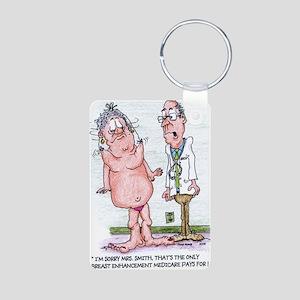 Funny Medicare Breast Enha Aluminum Photo Keychain