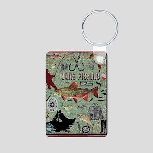 Gone Fishing Aluminum Photo Keychain Keychains