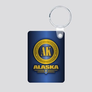 Alaska Gold Initials Keychains