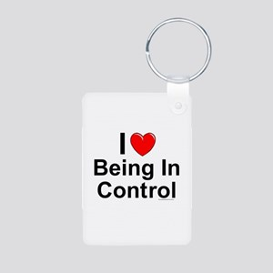Being In Control Aluminum Photo Keychain