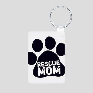 Rescue Mom Aluminum Photo Keychain