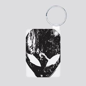 Alien Head (Grunge Texture) Aluminum Photo Keychai