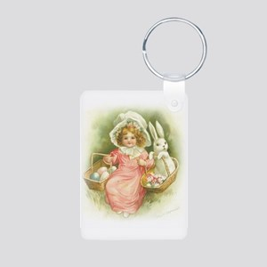 """Cute Easter Bunny"" Aluminum Photo Keychain"