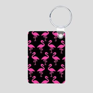 'Flamingos' Aluminum Photo Keychain
