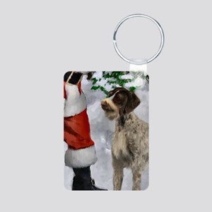 German Wirehaired Pointer Aluminum Photo Keychain