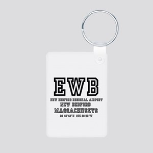AIRPORT CODES - EWB - NEW BEDFO Keychains