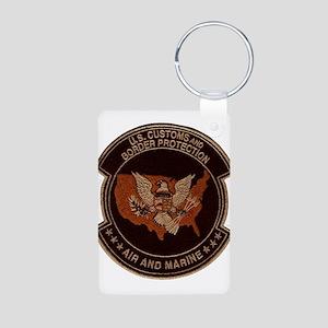 Border Patrol Air and Sea Aluminum Photo Keychain