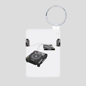 My CDJ Setup Aluminum Photo Keychain