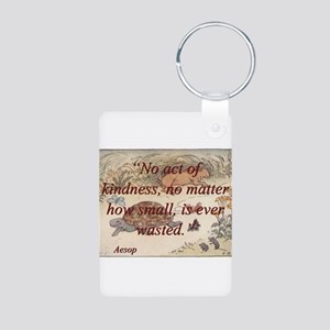 No Act Of Kindness - Aesop Aluminum Photo Keychain