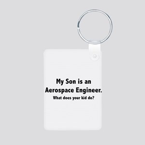 Aerospace Engineer Son Aluminum Photo Keychain