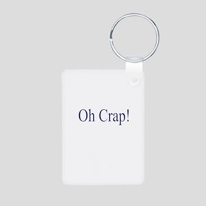 Oh Crap Aluminum Photo Keychain