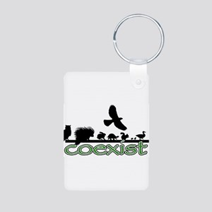 cfw coexist art Aluminum Photo Keychain