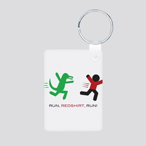 Run, Redshirt, Run! Aluminum Photo Keychain