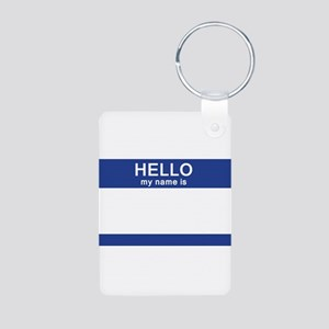 Hello my name is Blank Aluminum Photo Keychain