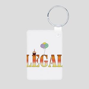 Finally Legal Birthday Aluminum Photo Keychain