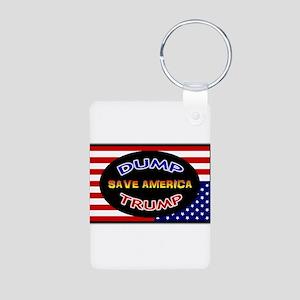 DUMP TRUMP - SAVE AMERICA Aluminum Photo Keychain