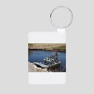 Florida swamp airboat 2 Keychains