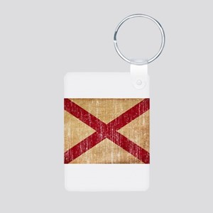 Alabama Flag Aluminum Photo Keychain