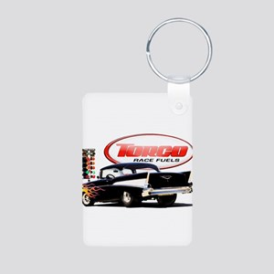 57 Chevy Dragster Aluminum Photo Keychain