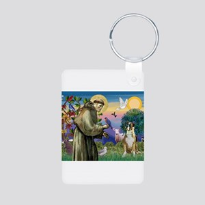 Saint Francis & Boxer Aluminum Photo Keychain
