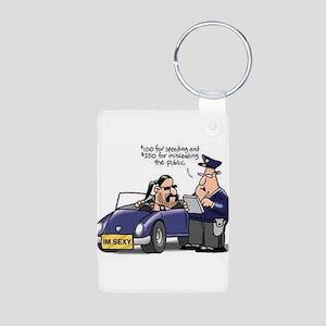 but officer Aluminum Photo Keychain