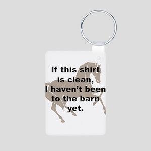 Dirty Barn Shirt w/ Horse Aluminum Photo Keychain