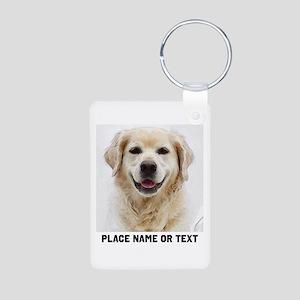 Dog Photo Customized Aluminum Photo Keychain