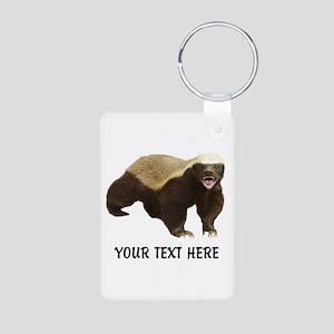Honey Badger Customized Aluminum Photo Keychain