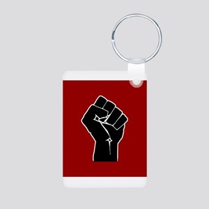 Red Solidarity Salute Keychains