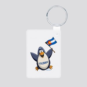 Colorado Penguin Aluminum Photo Keychain