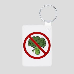 No Broccoli Aluminum Photo Keychain
