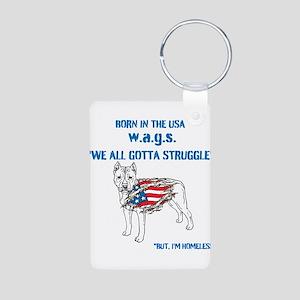 HIA Dog Flag design Aluminum Photo Keychain