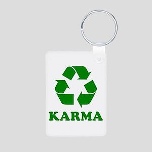 Karma Recycle Aluminum Photo Keychain
