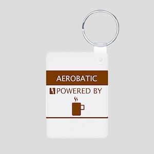 Aerobatic Powered by Coffee Aluminum Photo Keychai