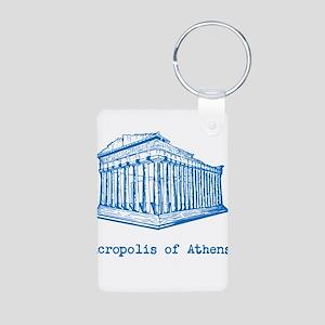Acropolis of Athens Aluminum Photo Keychain