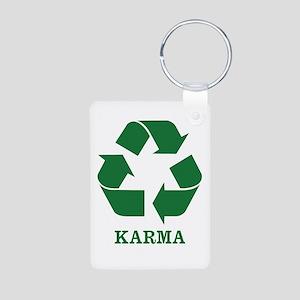 Karma Aluminum Photo Keychain