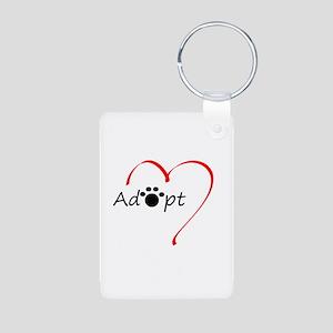 Adopt Aluminum Photo Keychain