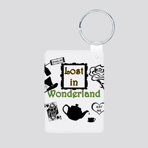 Lost in Wonderland Aluminum Photo Keychain
