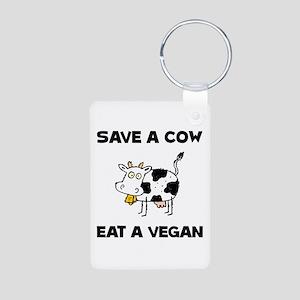 Save Cow Vegan Keychains