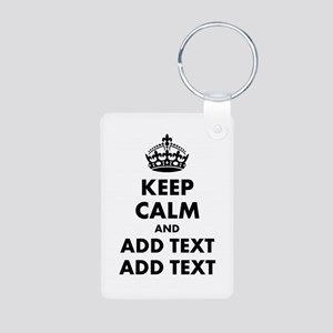 Personalized Keep Calm Aluminum Photo Keychain