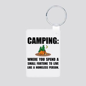 Camping Homeless Keychains