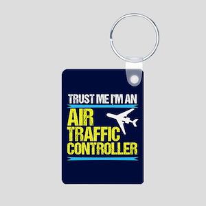 Air Traffic Controller Aluminum Photo Keychain