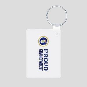 USAF: Proud Grandparent Aluminum Photo Keychain